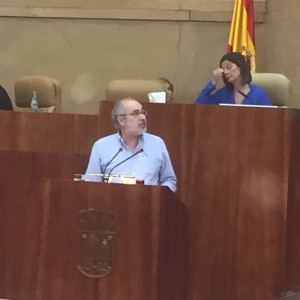 Un momento de mi intervención durante la defensa de la derogación de la Ley Virus
